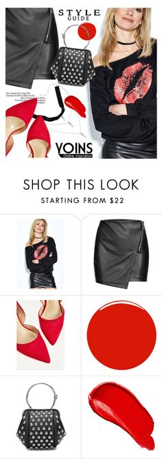 """YOINS - Kiss"" by ansev ❤ liked on Polyvore featuring Christian Louboutin and Burberry"
