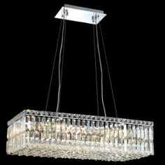 10 Light contemporary crystal chandelier Chrome plated