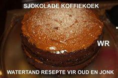 SJOKOLADE KOEKE South African Recipes, Ethnic Recipes, Flan Cake, Delicious Desserts, Yummy Food, Cake Recipes, Yummy Recipes, Atkins Diet, Coffee Cake