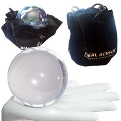 Contact Juggling Ball - Balle de contact Acrylique Transparente 80mm 350g