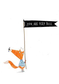 Mr. Cheer-up Fox: Illustration by Alex T. Smith #illustration #fox #AlexSmith