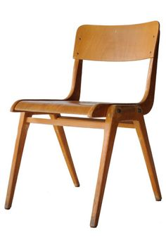 VINTAGE PLYWOOD STACKING CHAIR NETHELANDS 1970's