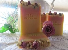 100% Handmade Jasmine and Roses Cold Processed Soap