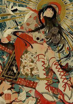 Kai Fine Art is an art website, shows painting and illustration works all over the world. Art Manga, Anime Art Girl, Pretty Art, Cute Art, Bel Art, Art Mignon, Anime Kunst, Japon Illustration, Art Japonais