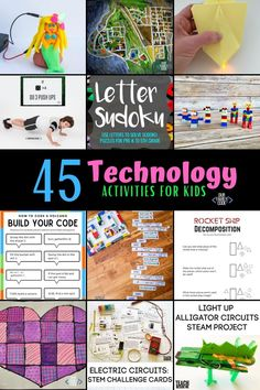 Computer science, coding, and technology activities for kids help prepare kids for life and encourage the development of logic, programming, problem solving, and creative thinking. #technology #technologyactivities #kidsactivities #activitiesforkids #stem #stemed #codingforkids #coding #stemactivities #handsonlearning