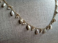 Keishi Pearl Love Necklace by cocoandlime on Etsy, $265.00