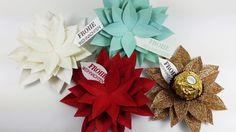 Adventskalender 2015 - Tag 18 Winterliche Weihnachtsgrüße / Jeden Tag ein Stempelset / Tutorial / Elementstanze Festliche Blüte / Tischdeko für Goodies, Weihnachten / für Pralinen aller Art