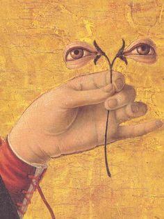 Francesco del Cossa - St. Lucia (Lucy) (c. 1472) detail.