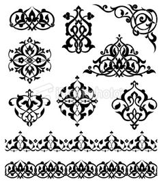 Arabesque Ornaments Royalty Free Stock Vector Art Illustration