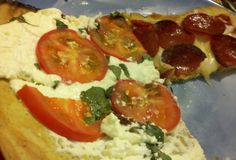 Coconut flour and flaxseed meal pizza crust! This looks like the recipe Mark and I use. This is great and add some almond cheese with a little pizza sauce and so yummy. My kids love this pizza when we made it for them. Primal Blueprint Recipes, Primal Recipes, Dairy Free Recipes, Diet Recipes, Healthy Recipes, Gluten Free, Pizza Recipes, Paleo Pizza, Cooking