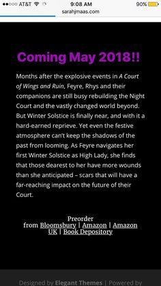 Ahhh!!! ACOTAR series novella. Feysand novella   Finally!!!!