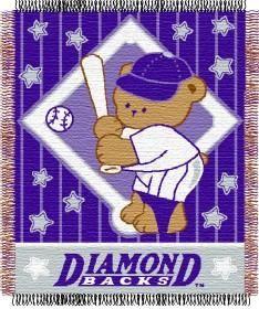 """Arizona Diamondbacks 36""""x48"""" Woven Baby Throw Blanket"""