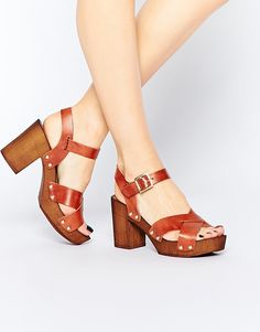 Image 1 of ASOS TILLY Leather Heeled Sandals
