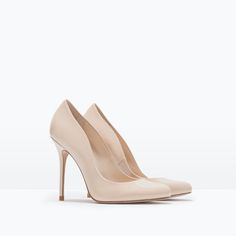 ZARA - WOMAN - FAUX PATENT LEATHER HIGH HEEL COURT SHOE