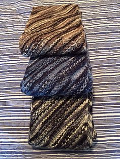 """When my Mum was visiting I kept asking what I could knit her and every time she replied: a cowl made with Malabrigo sock yarn and """"that nice stitch"""" - the one I used for g'day boomerang."""