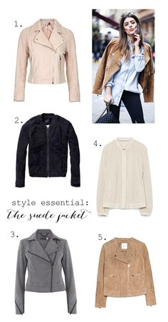 Suede jackets for spring