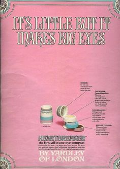 HEARTBREAKER the first all-in-one eye compact - by YARDLEY of LONDON   1967 - had this