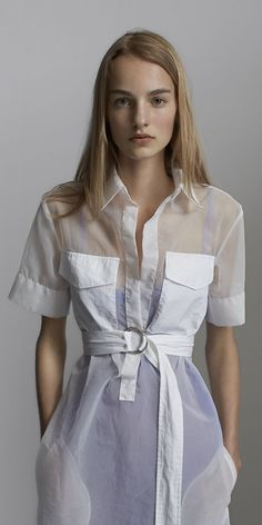 Celine white and lavender organza dress spring 2014. Winter getaway wear that also works at home