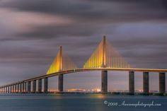 The Sunshine Skyway Bridge across Tampa Bay, Florida