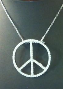 cool peace necklace