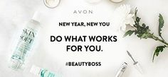 Do what works for you #BeautyBoss. Join me as an #AvonRep! #NewYearNewYou