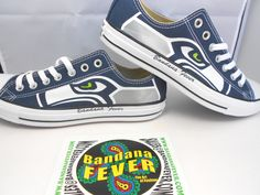 4410dbcd77a Converse Low Navy Seattle Seahawks FREE by BandanaFeverDesigns