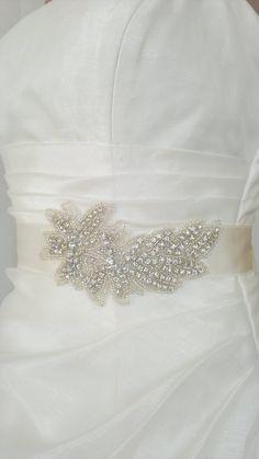 Rhinestone Beaded Wedding Dress Sash Belt