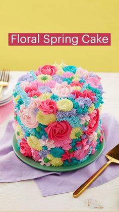 Cake Icing, Buttercream Cake, Cupcake Cakes, Cake Decorating Techniques, Cake Decorating Tutorials, Wilton Cake Decorating, Cookie Decorating, Cake Filling Recipes, Spring Cake