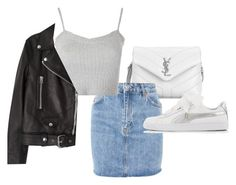 """Untitled #23723"" by florencia95 ❤ liked on Polyvore featuring Yves Saint Laurent, Topshop, Acne Studios and Puma"