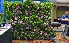 You could create a blooming wall like this for a special occasion. The hydrangea plants are in pots. Each pot is set on its side on sturdy metal shelving. Click back to the article for more details. Container Gardening, Gardening Tips, Endless Summer Hydrangea, Metal Shelving, Gardening Magazines, Outdoor Curtains, Vertical Gardens, Garden Pictures, Garden Crafts