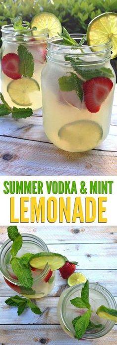 Refreshing Summer Vodka Mint Lemonade Cocktail Recipe - CUCINA DE YUNG #cocktailrecipes