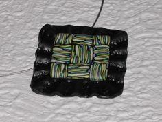 Halsreife - Halsreif schwarz-grün-lila quadratisch - ein Designerstück von iCo-Design bei DaWanda