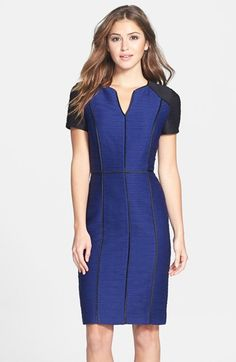 Nue by Shani Colorblock Ribbed Sheath Dress available at #Nordstrom