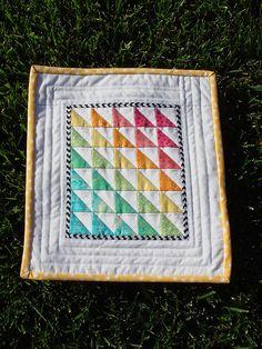 Mini quilt color study by Lemon Tree Tales, via Flickr