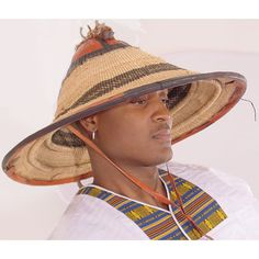The traditional Fulani hat. Mali, West Africa