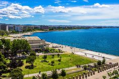 beautiful home town Thessaloniki Good morning in the great blue sea and beautiful sky!!!