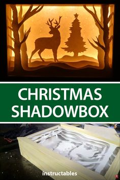 Create a scenic shadowbox for Christmas or any occasion. #Instructables #woodworking #workshop #decor #home Christmas Decorations To Make, Holiday Decor, 3d Paper Art, Diy Crafts Hacks, Borders For Paper, Woodworking Workshop, Beautiful Christmas, Hello Everyone, Shadow Box