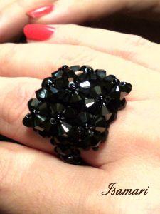 anillo nueve flores swarovski