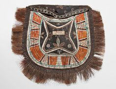 Huron Quilled Hide Pouch, c. last quarter 18th century. | Lot 124 | Auction 2983B | Sold for $61,500