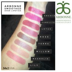 Arbonne Smoothed Over Lipsticks