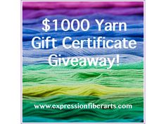 Expression Fiber Arts $1000 Yarn Giveaway! Enter to Win!