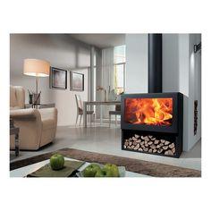 Stufe, climatizzatori e idraulica-Stufa a legna FENIX nero-35984060
