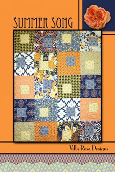 Summer Song quilt pattern by Pat Fryer, Villa Rosa Designs. Maybe from fat quarters or layer cake?
