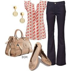 A fashion look from August 2012 featuring Wallis blouses, MiH Jeans jeans and Tory Burch flats. Browse and shop related looks.