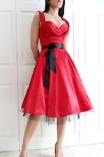 pin up dresses | ... retro 50s vintage style pin up rockabilly prom dress 8 10 12 14 16 18
