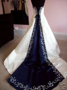 blue and white wedding dress google search wedding