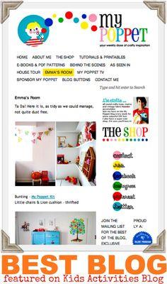 {Best Blog} My Poppet on Kids Activities Blog