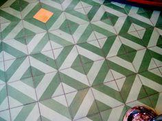 tile floor for girls' bathroom (but not that random orange one in the middle!)