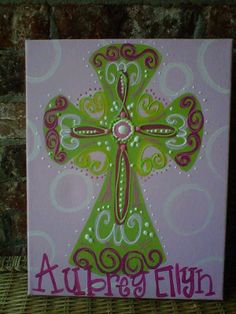 11x14 Cross Painting Door Hanger