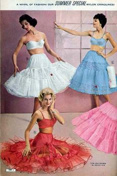 vintage Frilly sissy petticoats